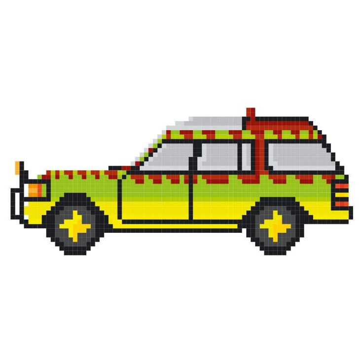 pixel art voiture