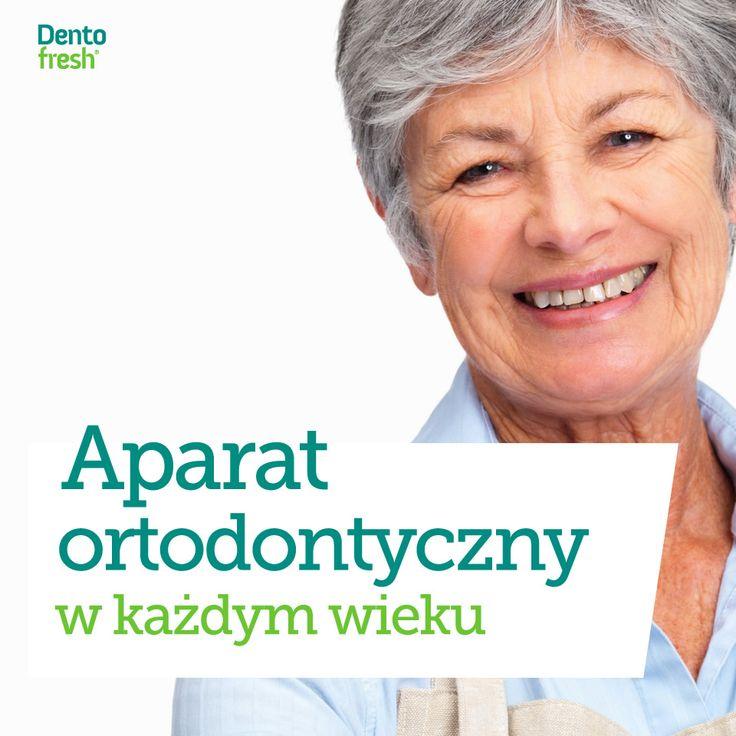 Obecnie nie ma żadnych przeciwskazań przed zakładaniem aparatów ortodontyczny osobom w starszym wieku i co raz częściej decydują się na niego również seniorzy. Leczenie trwa nieco dłużej lecz efekty moga być zaskakujące. #dentofresh #dobrarada
