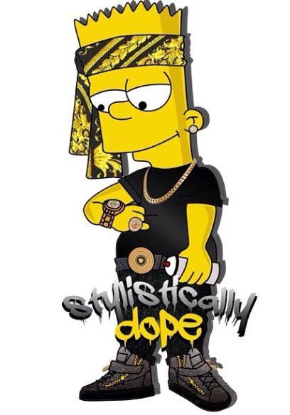 Black bart simpson swag