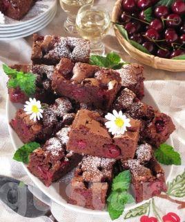 Receptek Lajos Mari konyhájából - Csokoládés- meggyes kocka