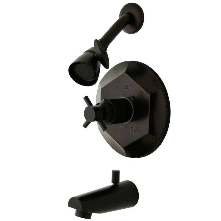 Kingston Brass KB4635DX Tub & Shower Faucet, Oil Rubbed Bronze - Price: $525.95 & FREE Shipping over $99     #kingstonbrass
