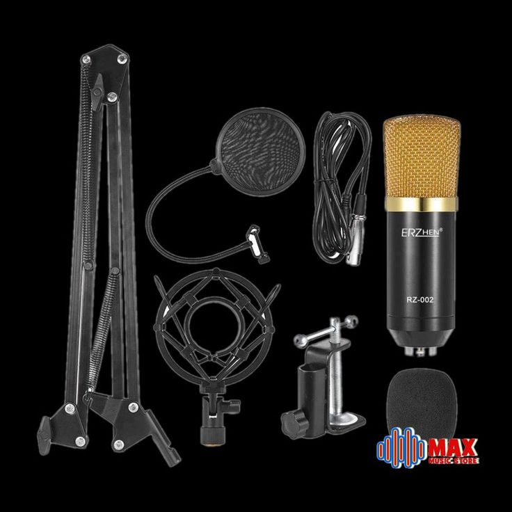 Condensor Microphone kit for Recording Studio + Broadcasting + many accessories #Unbranded