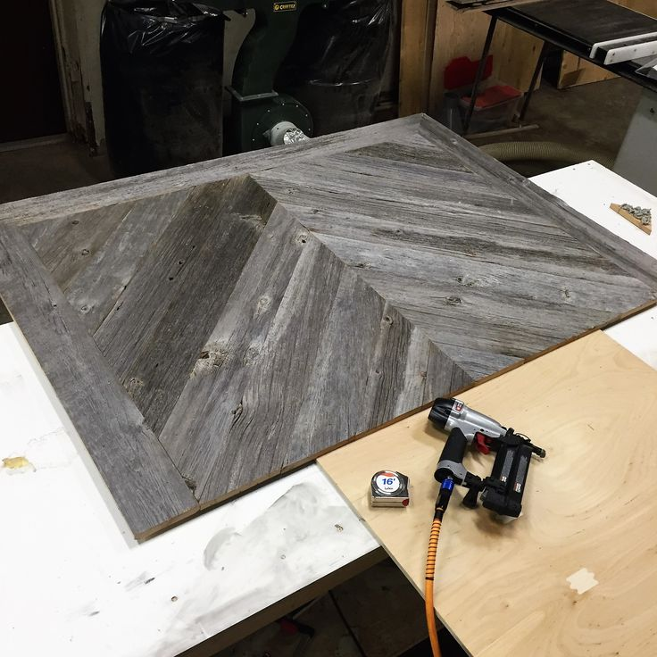 Custom grey barn board headboard in progress.  Check out www.jeffmackdesigns.com to order yours.