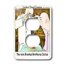 Londons Times Offbeat Cartoons Fashion - Brookus Brothers Cactus Funny Gifts - Light Switch Covers - 2 plug outlet cover $13.95