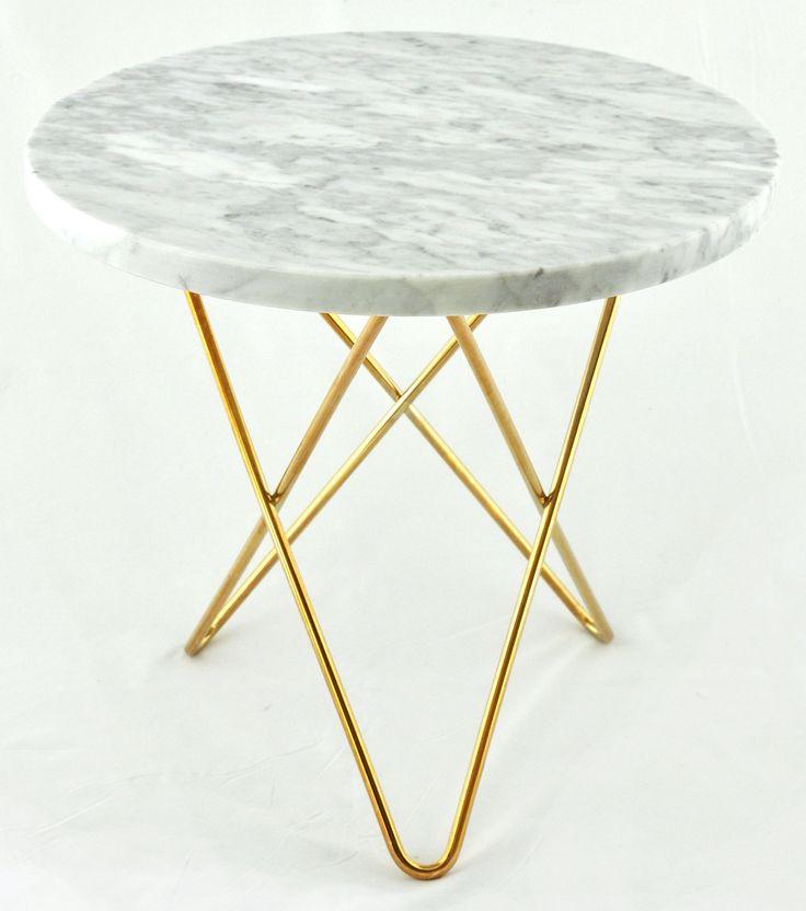 Tall Mini O table - vit marmor från OX Denmarq hos ConfidentLiving.se
