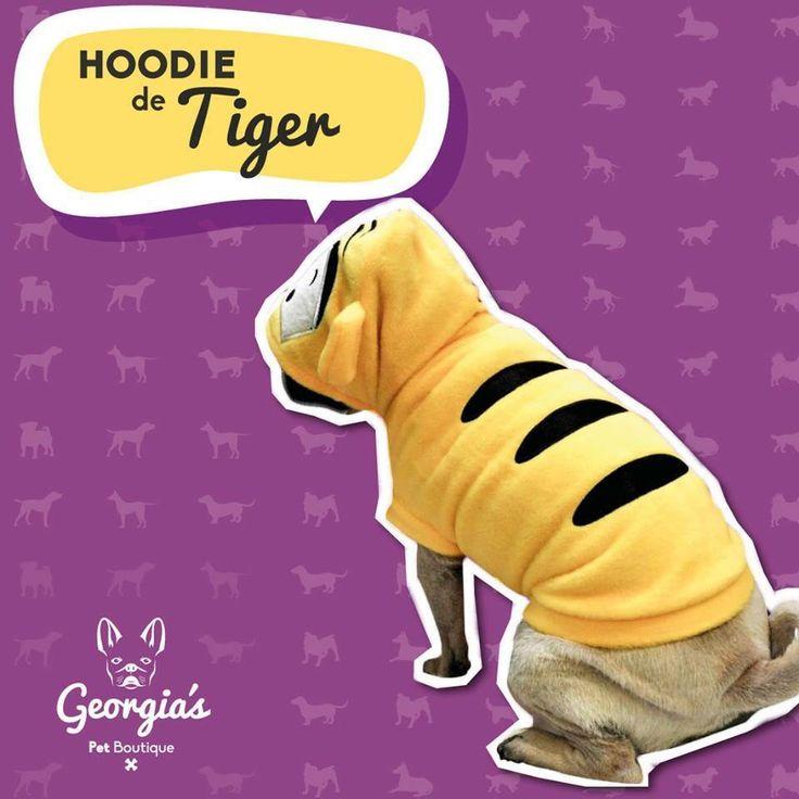 ¡Tu sabes que a tu perro le luce! Hoodie de Tiger $50.000