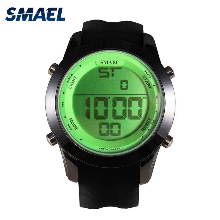 SMAEL Brand  Digital Watch Men LED Sport Watches Various Colors Wrist Watch Men Clock relogios masculino reloj hombre  WS1076 #Affiliate