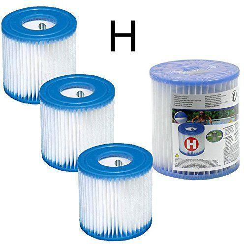4 Cartouches de Filtration Intex pour filtre piscine – Intex TYPE H: Lot de 4 cartouches de Filtration de Type H pour Filtre Piscine INTEX…