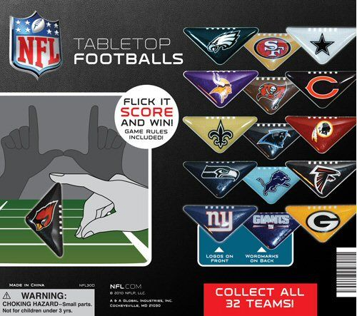 NFL Table Top Football Vending Capsules -  Use Coupon Code PIN for Discount!
