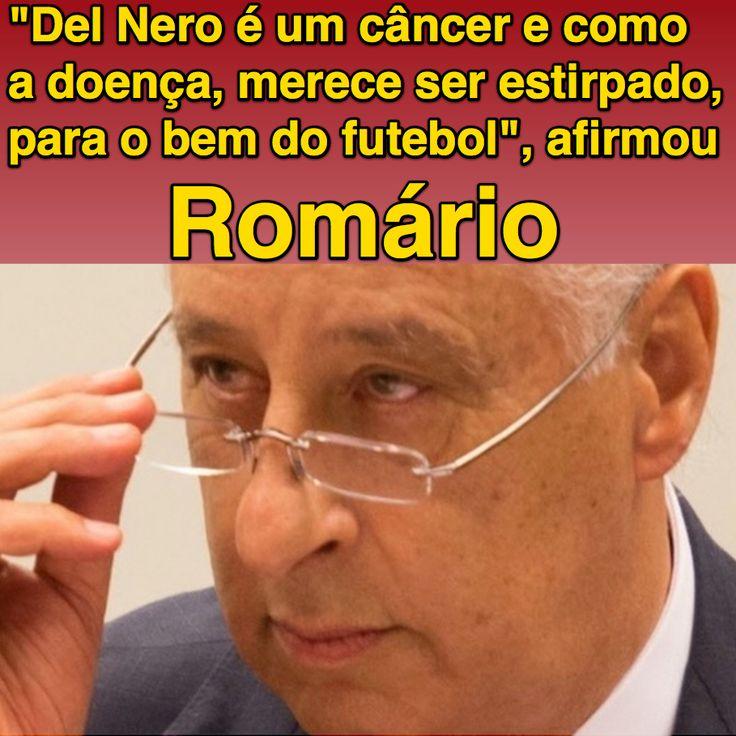 """""""Del Nero é um câncer e como a doença, merece ser estirpado, para o bem do futebol"""", afirmou Romário ➤ http://esporte.uol.com.br/futebol/ultimas-noticias/2015/09/23/cpi-aprova-quebra-de-sigilo-de-marin-em-sessao-com-bate-boca.htm ②⓪①⑤ ⓪⑨ ②③ #CBFCorruption"""
