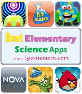 Best Science Apps for Elementary School Kids - from iGameMom.com --   #kidsapps #elementary #science