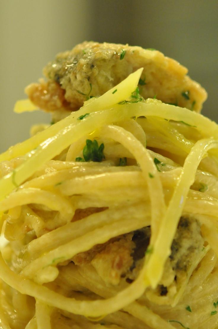 Spaghetti alla francescana con patate e sarde www.pierinopenati.it