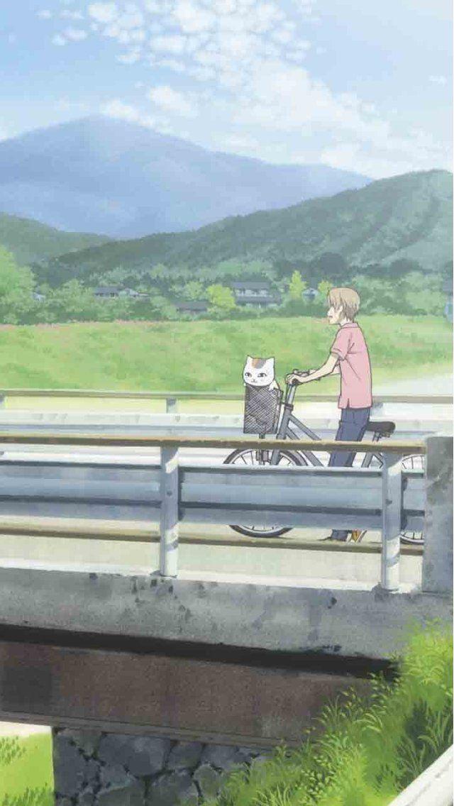 夏目友人帳(なつめゆうじんちょう): ニャンコ先生&夏目貴志(なつめたかし) 日本の原風景, 日本人の強さと優しさ, 絆… 日本は, 神と人と神でも人でもないものとが互いに助け合い, 慈しみ合って, 長い時をかけ紡いで来た国…  Natsume Yuujinchou: Natsume Takashi&Nyanko Sensei ©️Yuki Midorikawa / 夏目友人帳 iPhone5(640×1136)壁紙アニメ画像5621 スマポ
