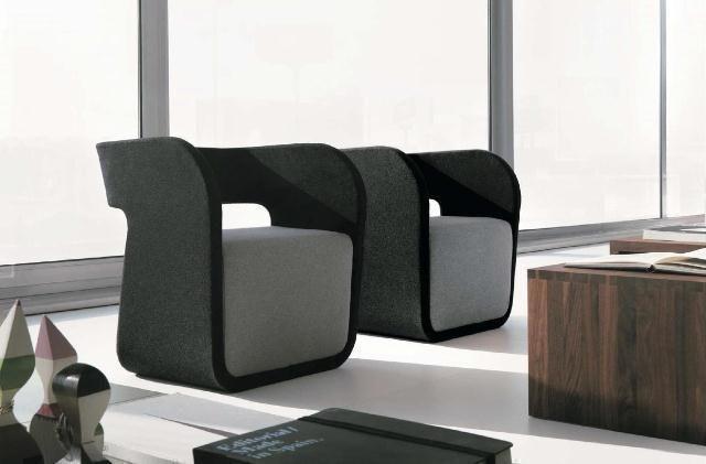 Modernas butacas en negro y blanco
