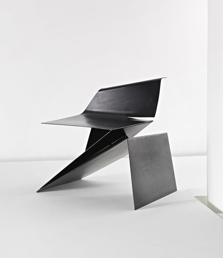 Prototype Origami chair by Philip Michael Wolfson.