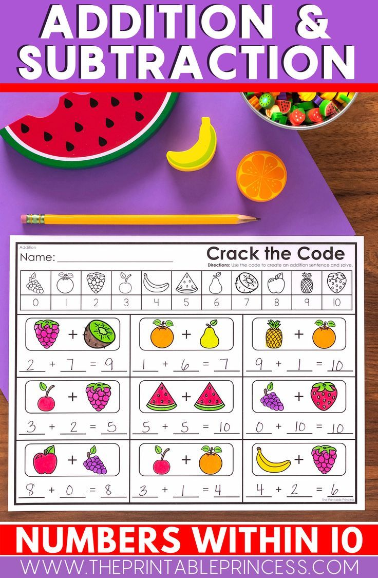 Kindergarten Math Addition And Subtraction To 10 Bundle Addition And Subtraction Subtraction Activities Kindergarten Math Preschool math addition and subtraction