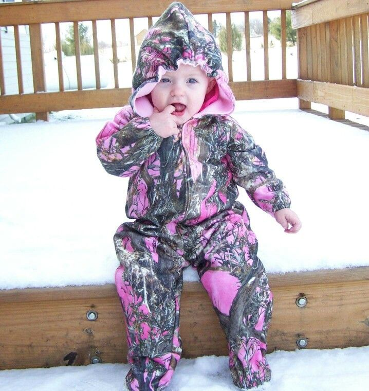 Pink camo onesie for the girls