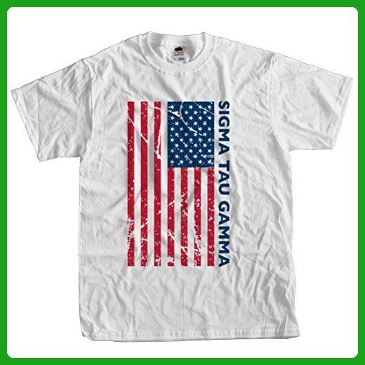 Fast Yeti Tees Adult Sigma Tau Gamma July 4th America Tee ST Medium White - Holiday and seasonal shirts (*Amazon Partner-Link)