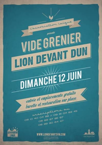 affiche Vide grenier Lion Devant Dun 2016