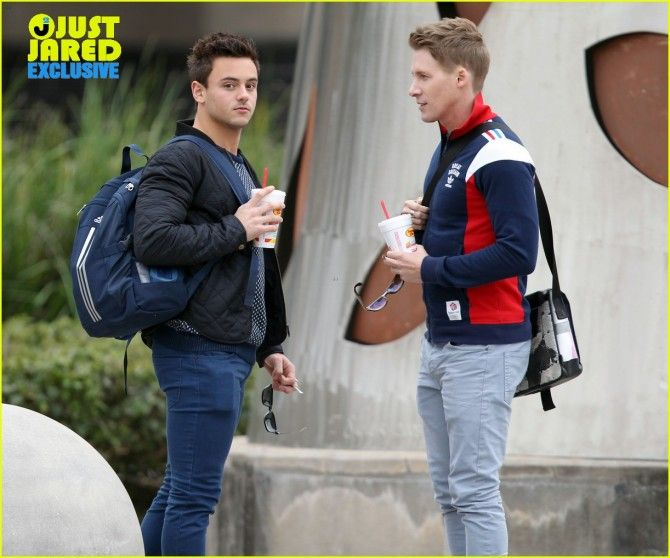 Tom Daley and his boyfriend, who doesn't even look 39.