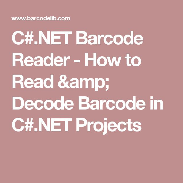 C#.NET Barcode Reader - How to Read & Decode Barcode in C#.NET Projects
