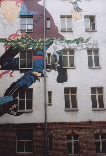 berlin 1990. squatted building