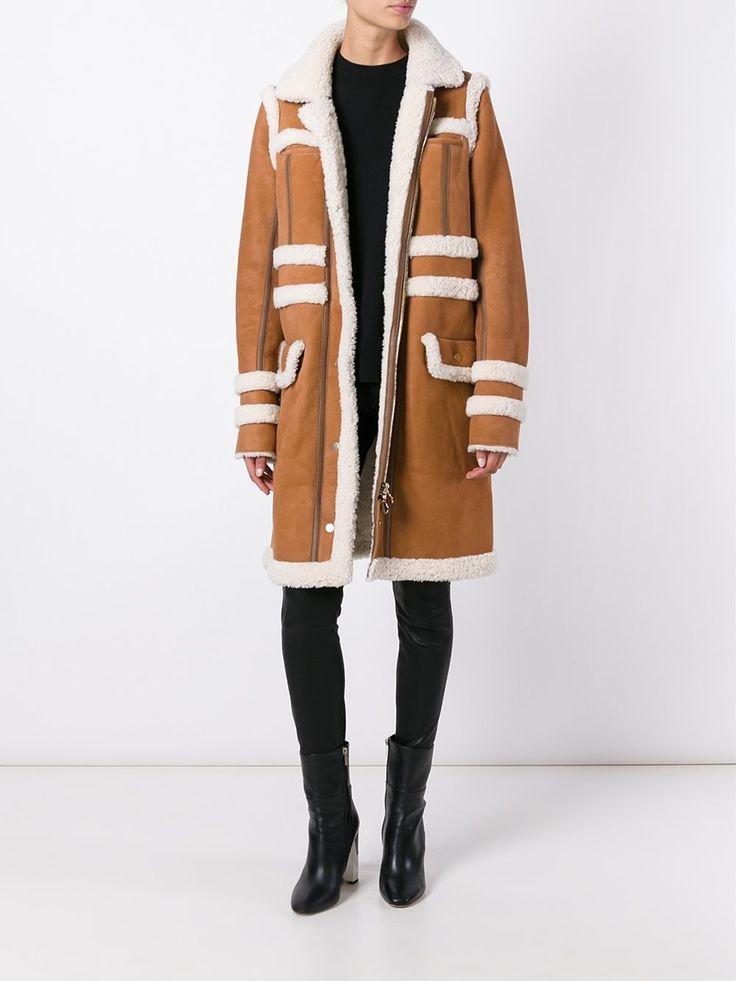 Carven пальто из овчины
