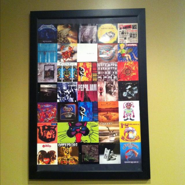 Make old CD covers art!