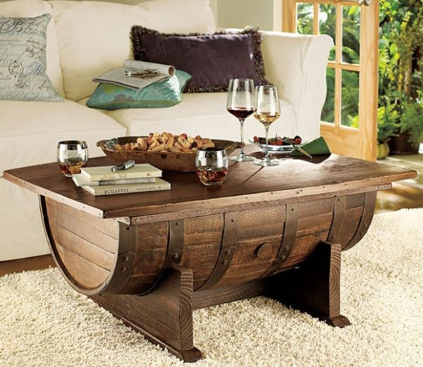 Make a beautiful coffee table out of an old barrel http://ow.ly/Jn3aF #woodworking #diyproject