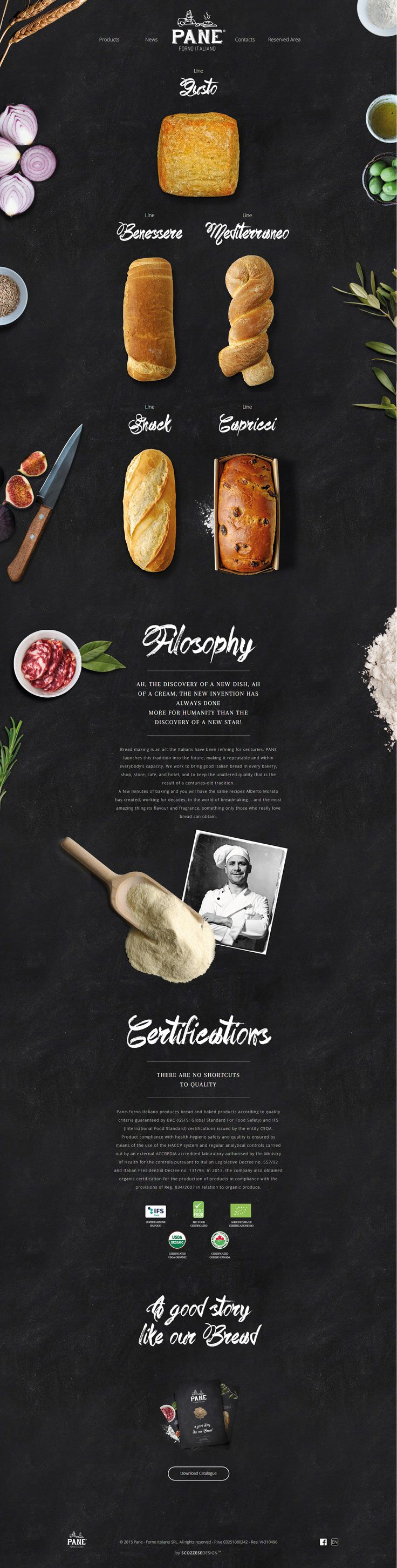 Pane. Grabbing your five senses. #webdesign #bakery #design