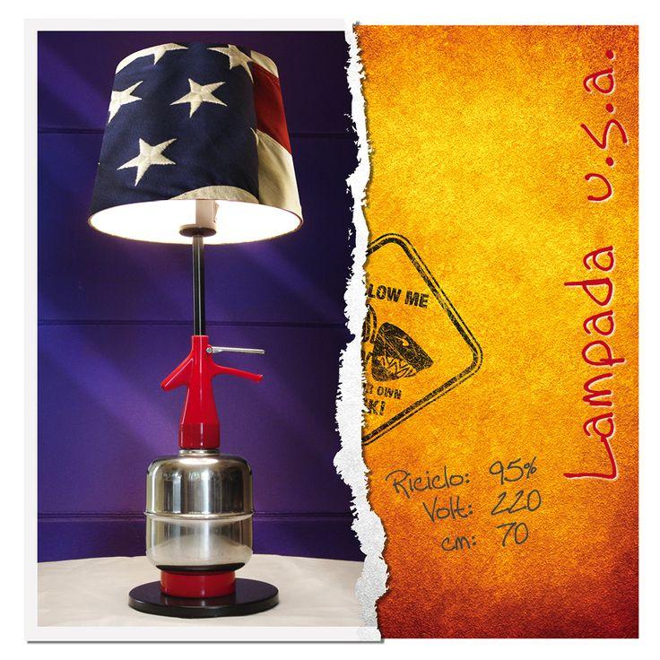 Lampada da tavolo USA #usa #selz #bar #pub #lampada #vintage