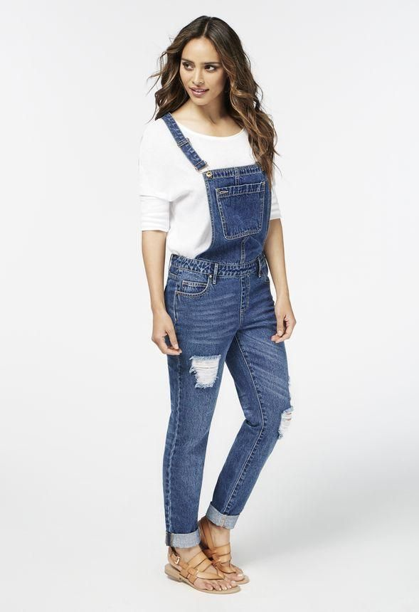 Be a trendsetter and go for Long Overalls. l JustFab