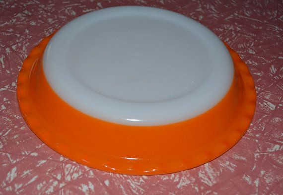 Retro Orange Pie Dish  By Crown by AntiqueRetroVintage on Etsy, $17.95