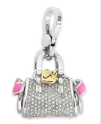 Juicy Couture Charm, Silver Tone Pave Glass Daydreamer Charm - Fashion Jewelry - Jewelry & Watches - Macy's