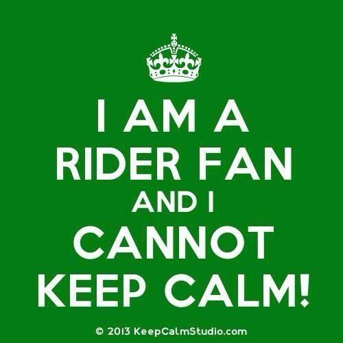 Who's calm?  Not me!