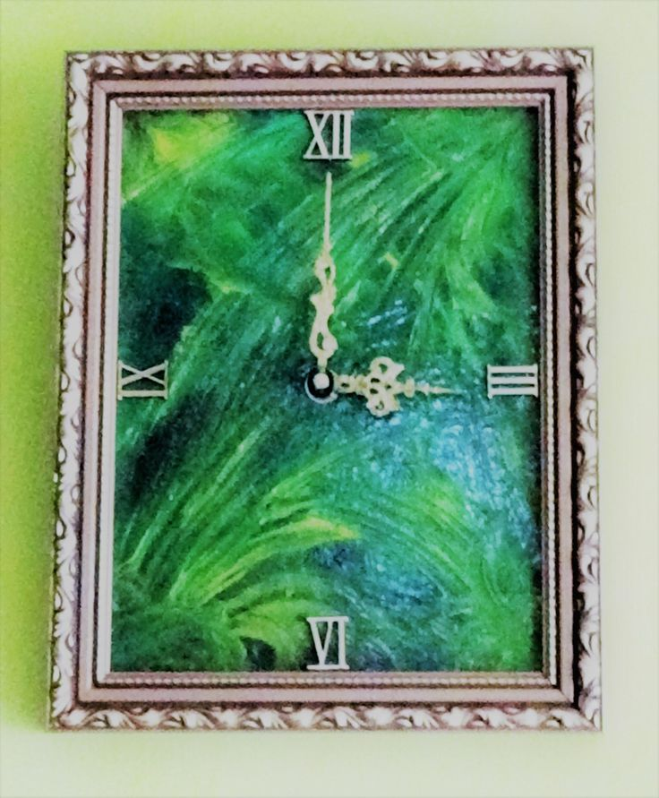 Modern Framed Wall Clock,Oil painted clock face Wedding,Trending Gift,Wood Clock,Wall Hanging,Boho Wall Hanging Gift for Her,Gift for Him by TheArtWorkShop37 on Etsy