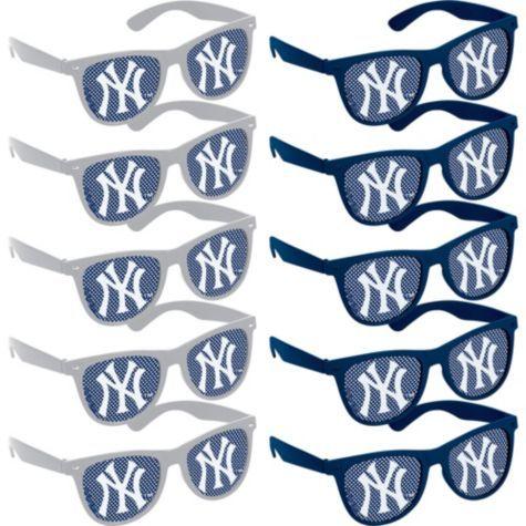 New York Yankees Printed Glasses 10ct - Party City