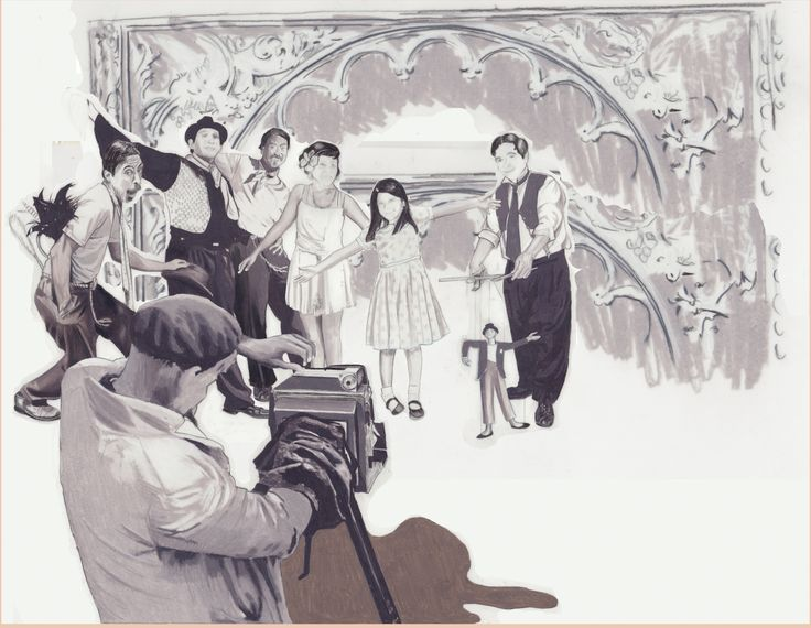 """Carolyn Dee Flores - Pencil Drawing Study for THE CIRCUS - """"Camera"""""""