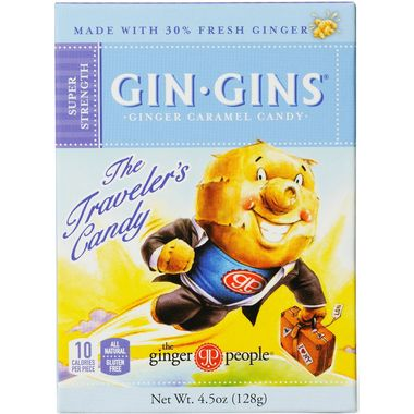 Ginger People Gin Gins Super Strength Ginger Caramel Candies. My all-time favourite! The most delicious way to take ginger for soothing nausea and wonky gut.