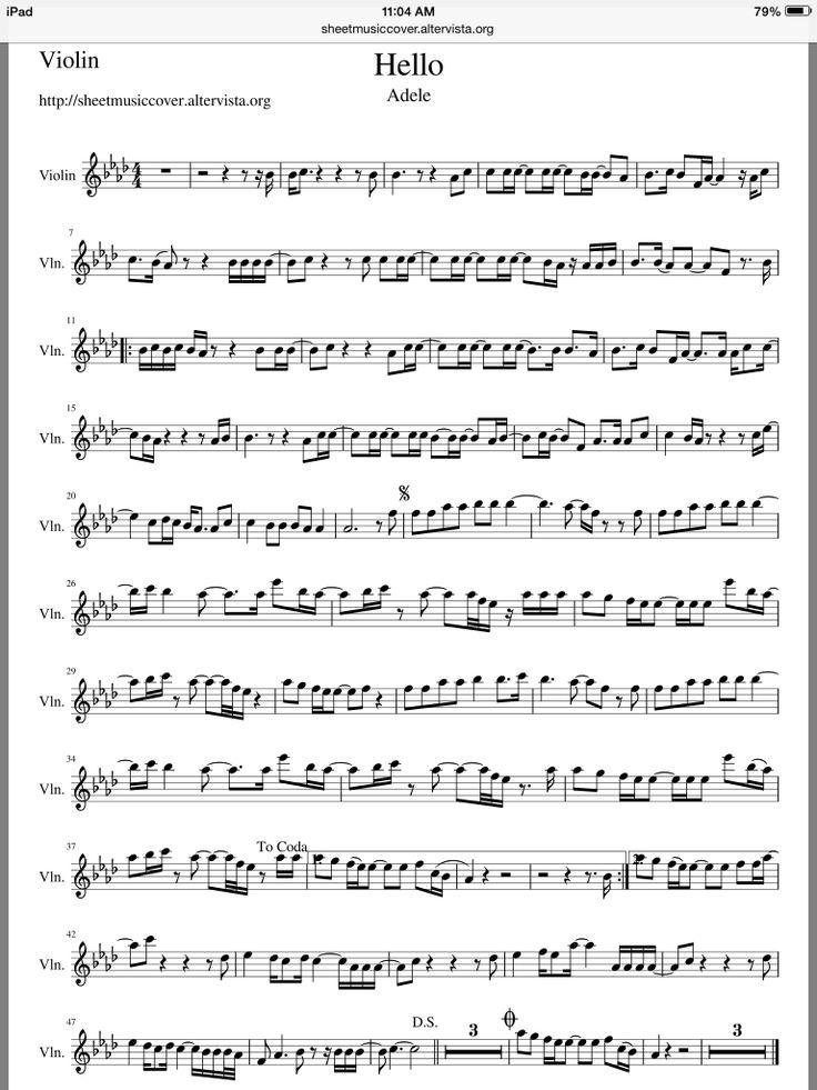 Adele - Hello violin sheet music