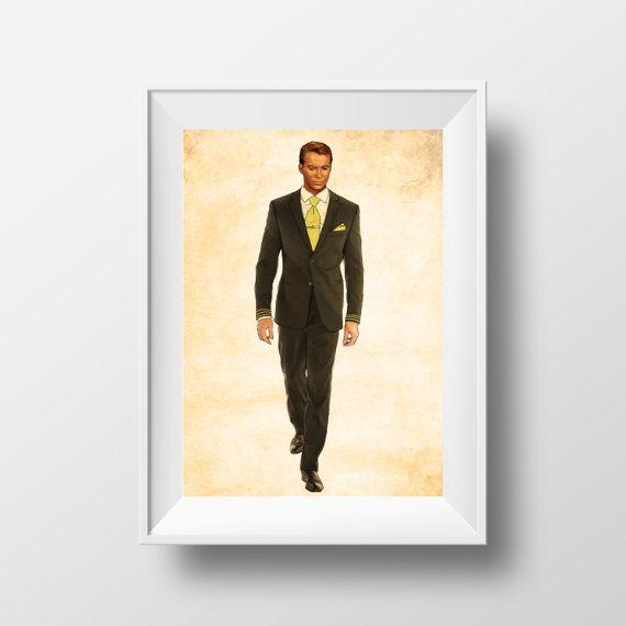 Star Trek Print, Formal Dress James Kirk, Star Trek Fan Art, Captain Kirk, GFX