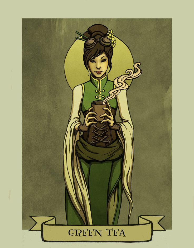 Green tea by Evanira.deviantart.com on @deviantART