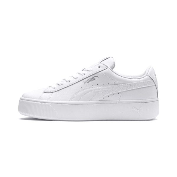 PUMA Vikky Stacked Women's Trainers | White puma sneakers