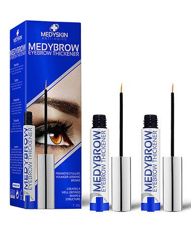 MedyBrow Eyebrow Thickener Serum - Set of Two #zulily #zulilyfinds