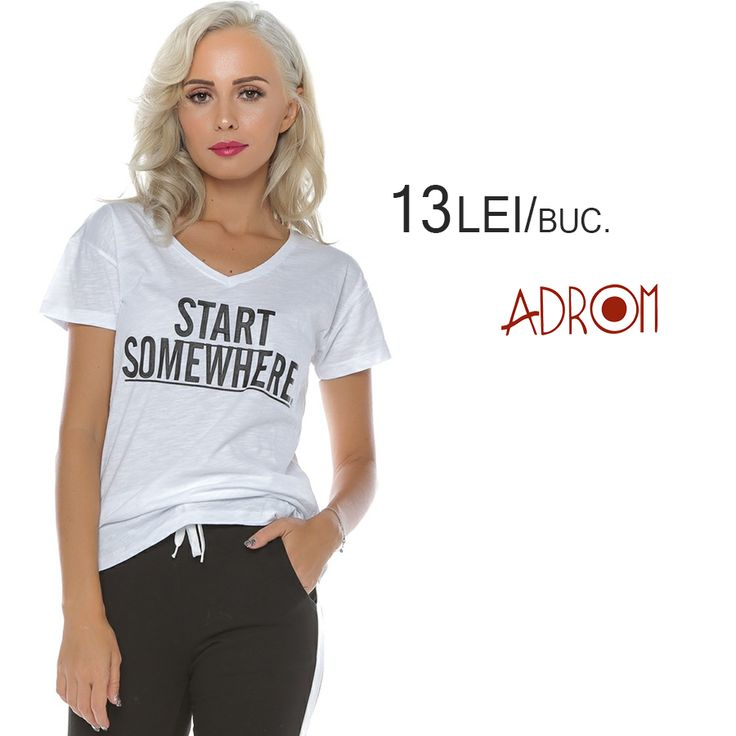 La Adrom Collection găsești o mulțume de modele de tricouri en-gros la prețuri mici-mici-mici, la doar 13 lei/buc. Unul dintre ele este acest model cu imprimeu la modă, pe care clientele tale îl vor adora. http://www.adromcollection.ro/681-tricou-angro-6335.html