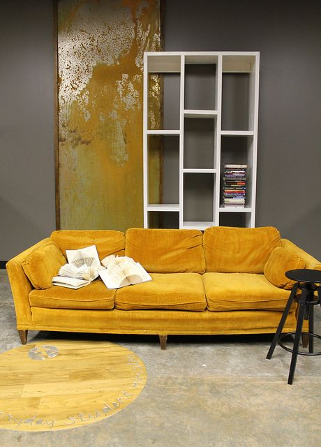 I Have This Mustard Couch In Storage. Now I Jut Need My Living Room.