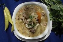 Ajiaco (meat soup)