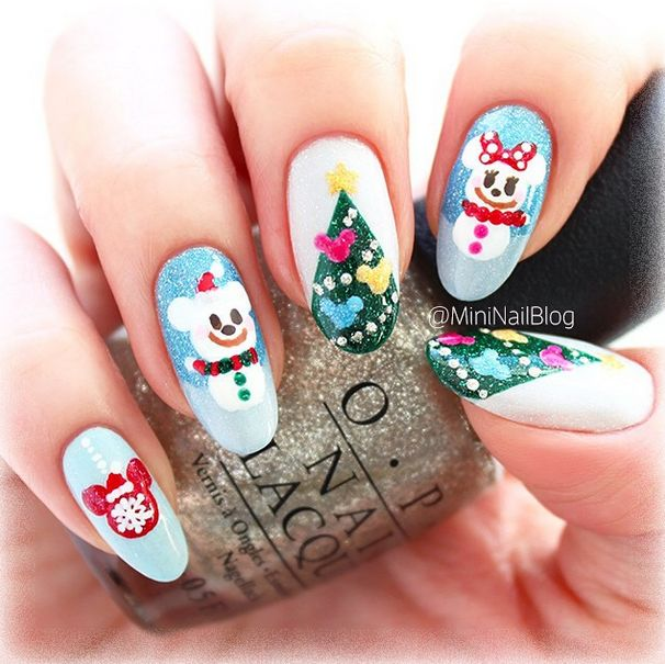 Disney Christmas Nails In 2018 Pinterest And
