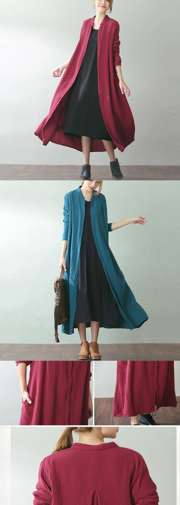 It's time for preparing new outfits for AUTUMN .How about this look?Women loose shirt dress,machine wash.buykud.com