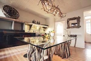 RECTANGULAR GLASS TOP DININGTABLE « Reclaimed Rustic Furniture